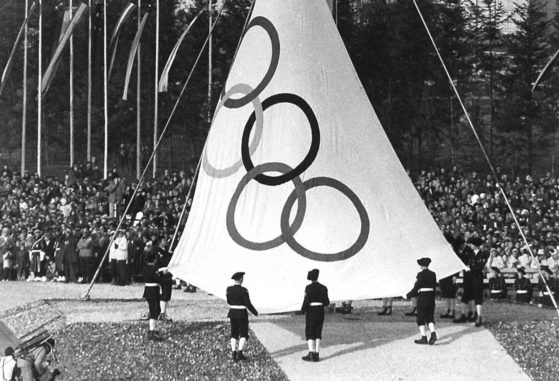 Drapeau Olympique JO 1968_2
