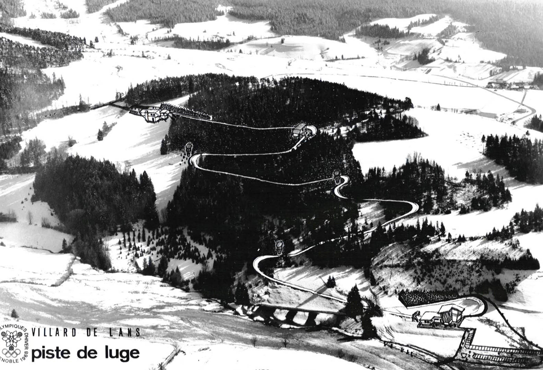 piste de luge Villard JO 1968