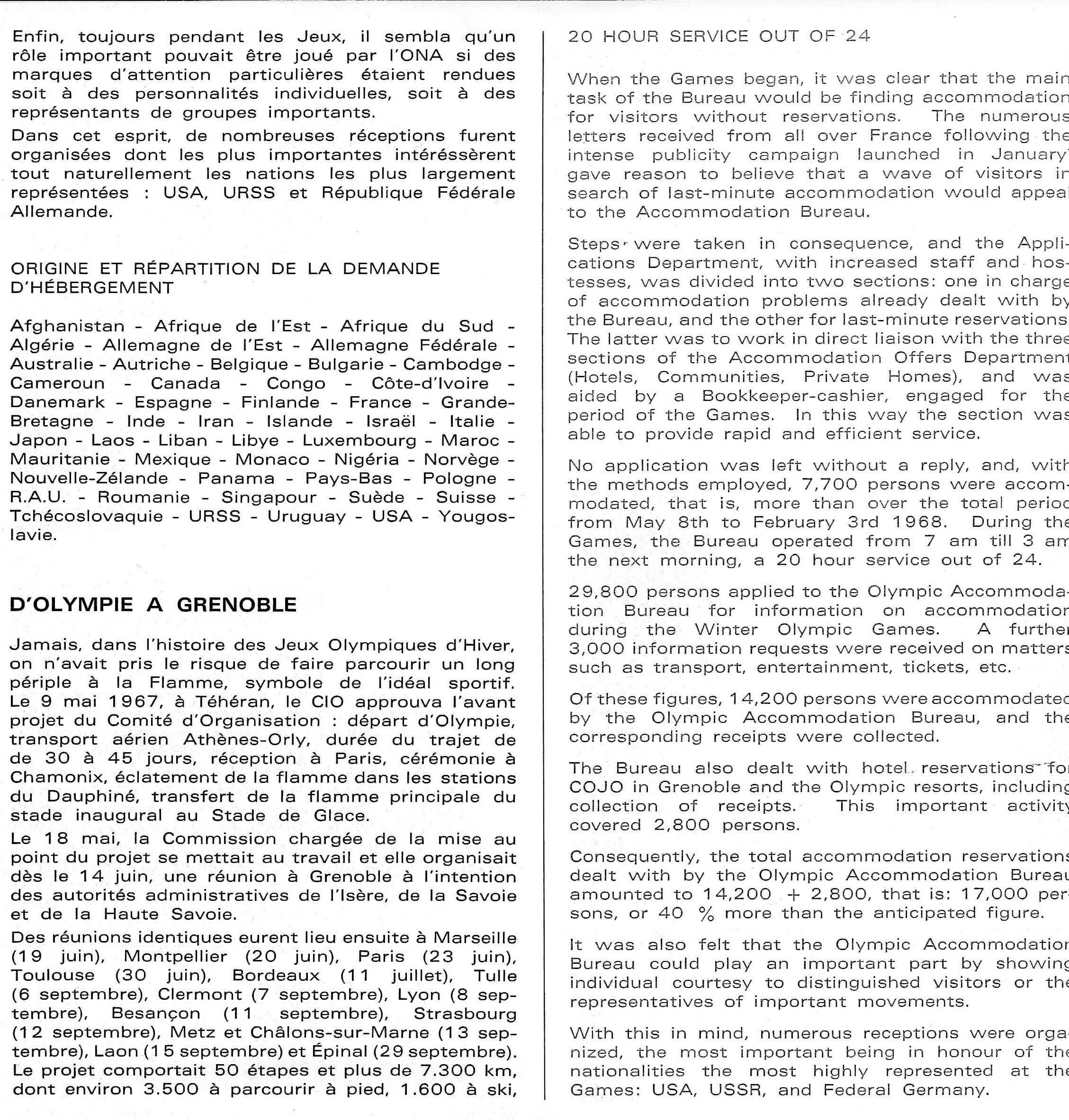 Porteurs de Flamme JO 1968