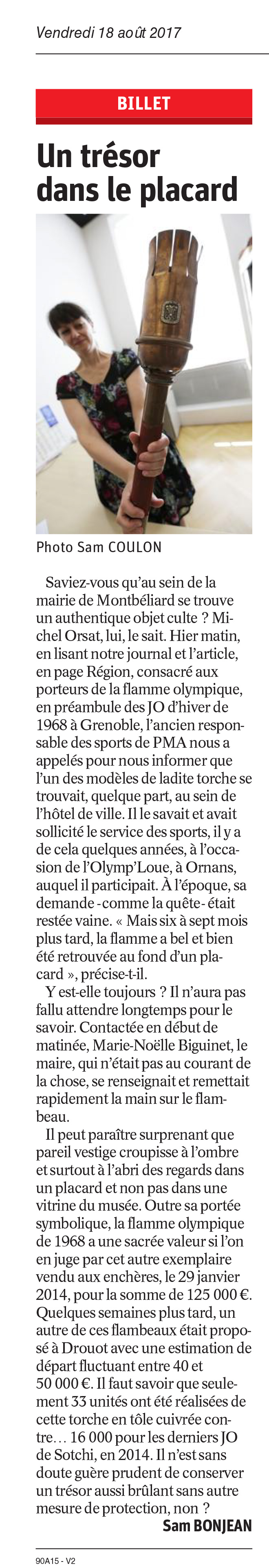 Article Est Republicain 18-08-2017
