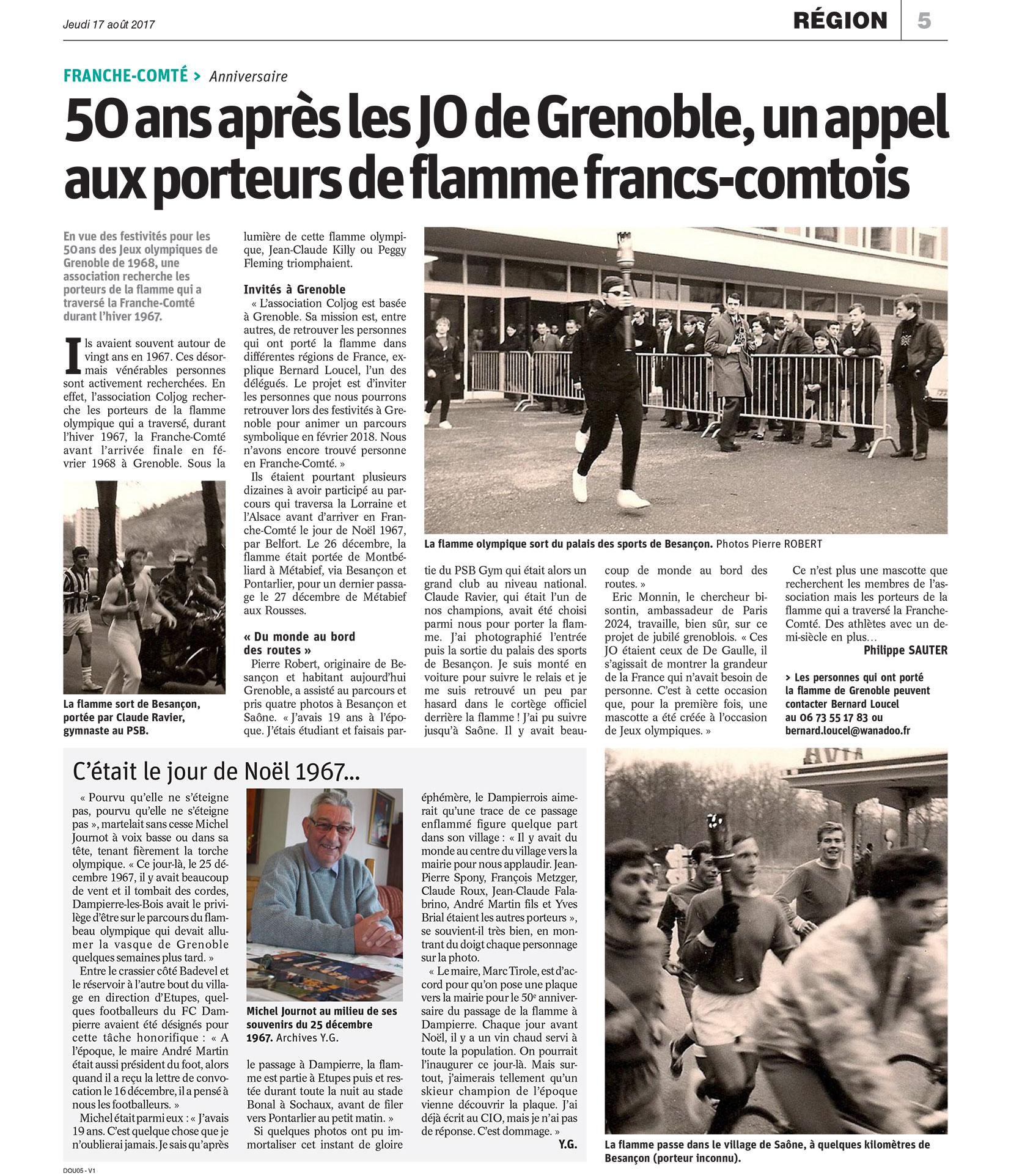 Article Est Republicain 17 aout 2017